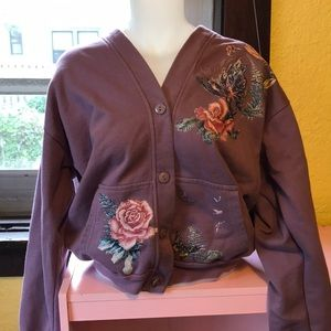 Sweaters - Butterfly & rose cardigan